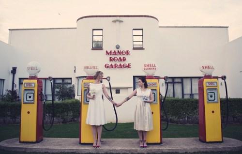 50s Bridal photoshoot4