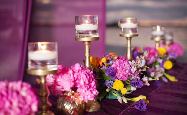 St Petersburg Indian Wedding Ceremony Canopy Decor With