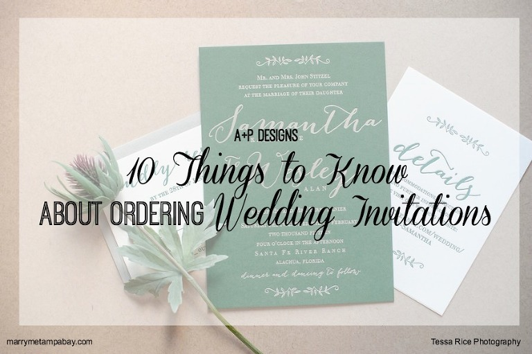 Advice Ordering Your Wedding Invitations With Tampa Bay Letterpress Stationery Designer A P Design Co And Are The