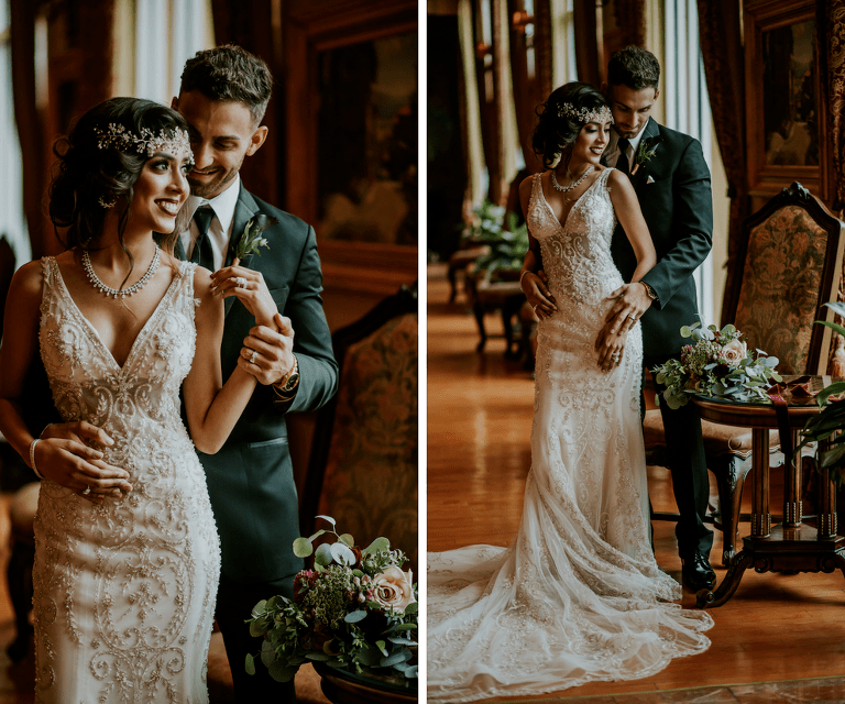Vintage Glam Inspired Styled Wedding