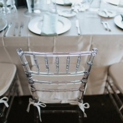 Acrylic Chairs With Cushions Cadbury Purple Chair Sashes Ballroom Wedding Reception Decor Clear White Satin Tablecloth Silver Plate Chargers And Green Linens St