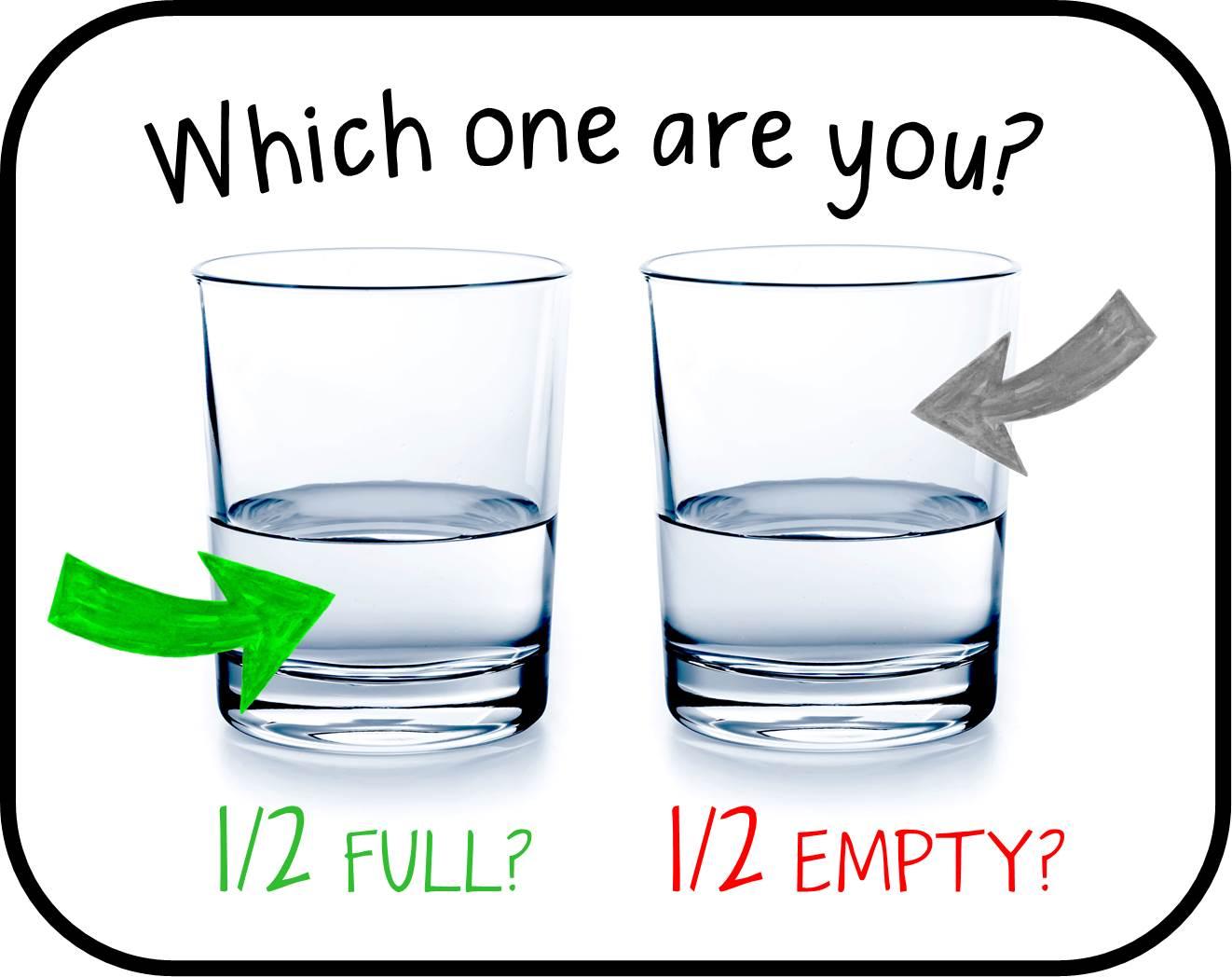 Is The Glass Half Empty Or Half Full Marryyourselfyhm