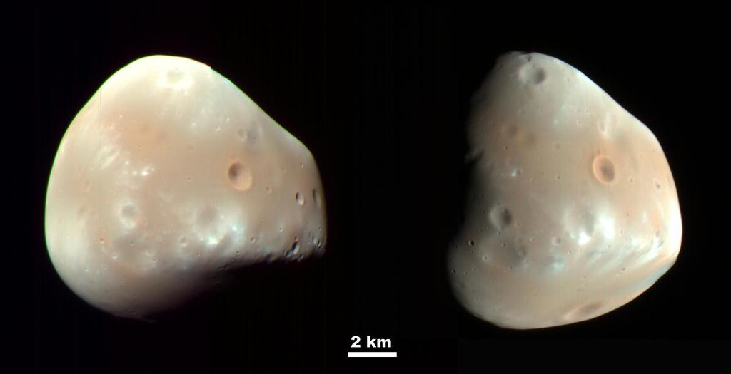 Martian Moon Deimos in High Resolution