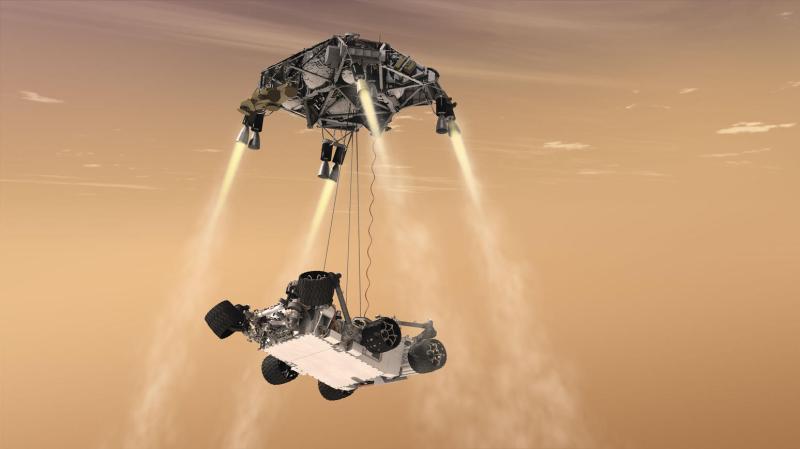 Curiosity's Sky Crane Maneuver, Artist's Concept – NASA's Mars ...