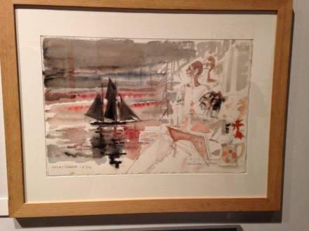 Aquarelle, exposition Hugo Pratt