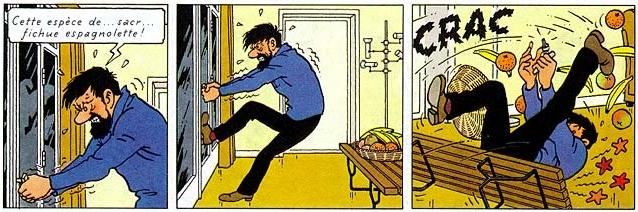 Hergé, Tintin et les Picaros, 1976, page 17 [extrait]. Copyright © Hergé / Moulinsart