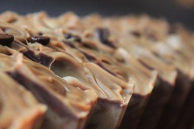 Flora & Pomona's Mocha Latte Soap with french roast Brazilian beans from Toi Moi & Café