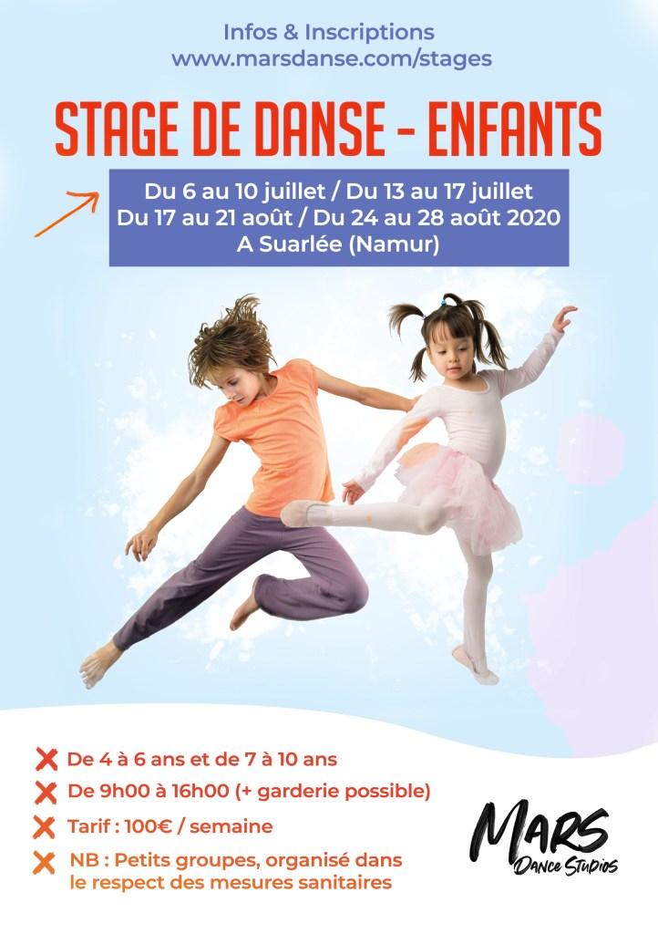 Stage de danse à Namur enfants