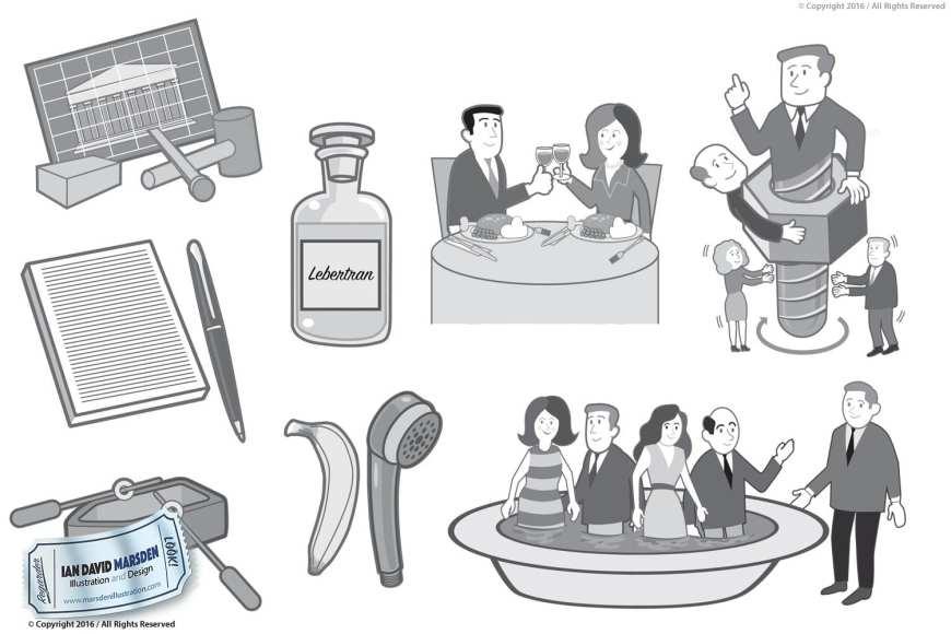 Editorial Illustration Art by Ian David Marsden