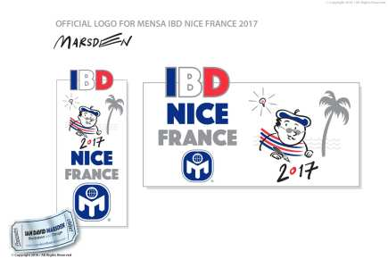 Mensa IBD 2017 Nice Image of logo, character and mascot design by Ian David Marsden
