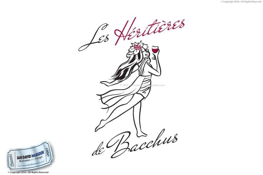 Winery Vigneron Image of logo, character and mascot design by Ian David Marsden
