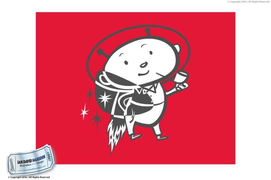 Retro Vector Logo Design Image of logo, character and mascot design by Ian David Marsden