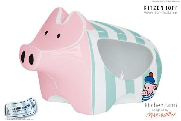 Cute Salt Pig Design by Ian Marsden