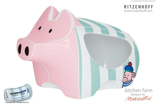 Kitchen Farm Salt Pig - RITZENHOFF Design Collection Object by designer Ian David Marsden
