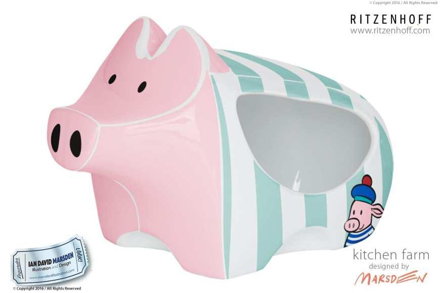 Kitchen Farm Salt Pig - RITZENHOFF Design Collection Object by designer Ian David Marsden