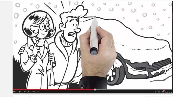 Whiteboard Video Explainer animation cartoon illustration by Ian Marsden