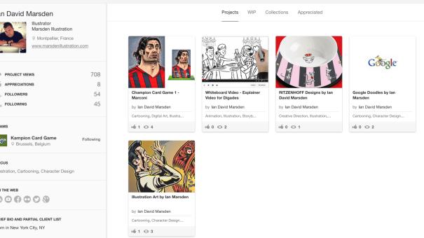 Behance Illustrator Portfolio