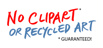 No Clipart or Recycled Art