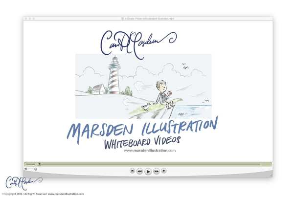 Whiteboard animation production by Ian David Marsden Illustration