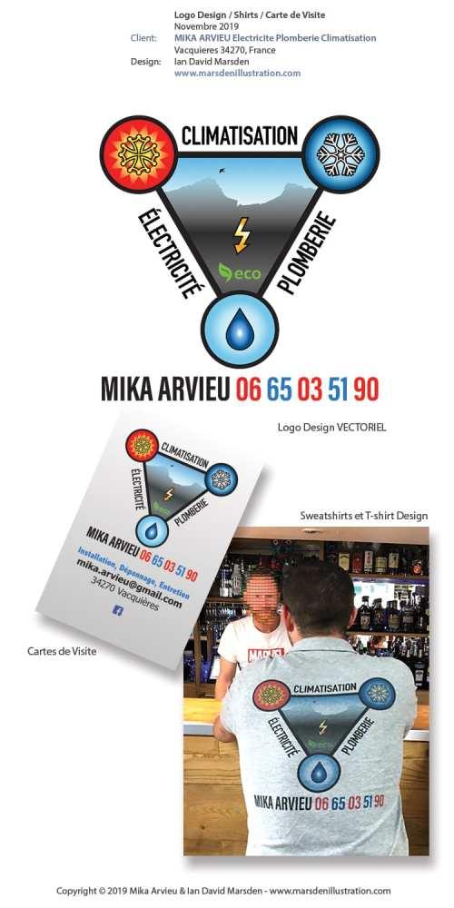 Logo pour Mika ARVIEU Électricité, Plomberie, Climatisation