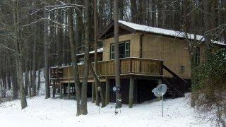 Pinewood cabin at Marsh Hollow