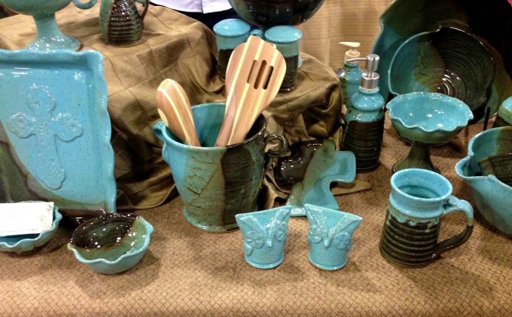 pottery, bowls, mugs, platters