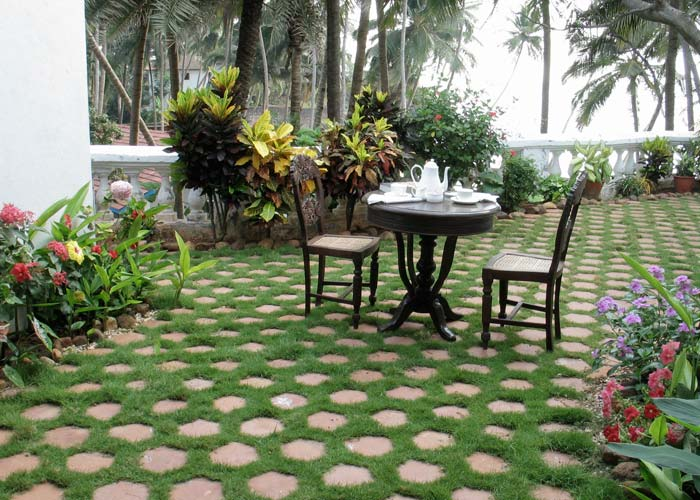 terrace, garden, table and chairs