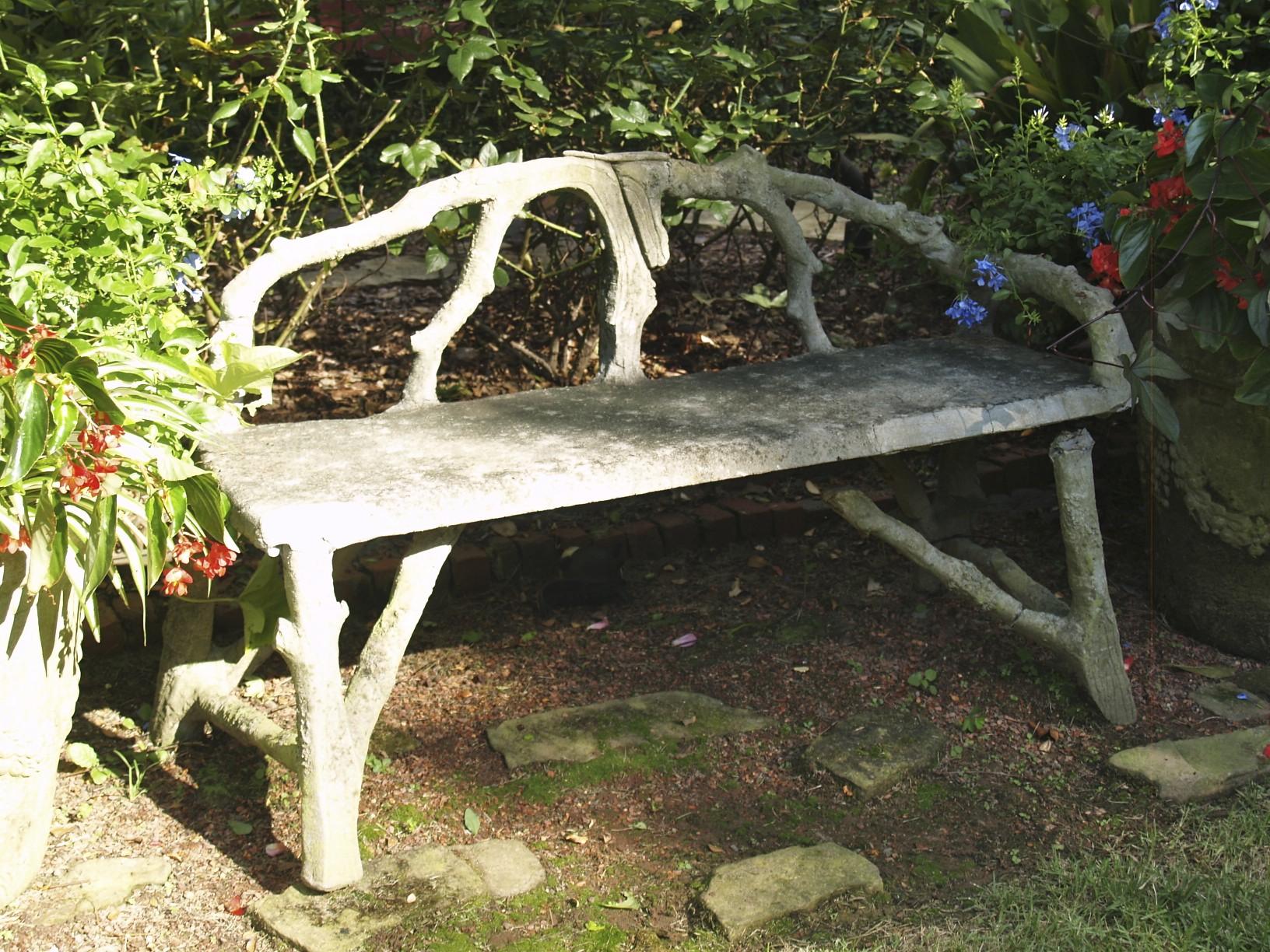 bench, faux bois