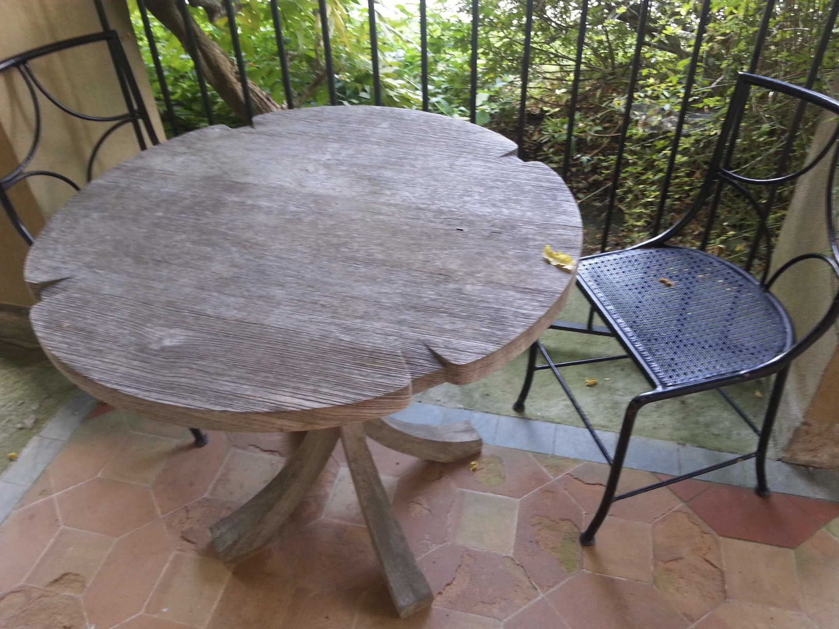 carved lily pad table