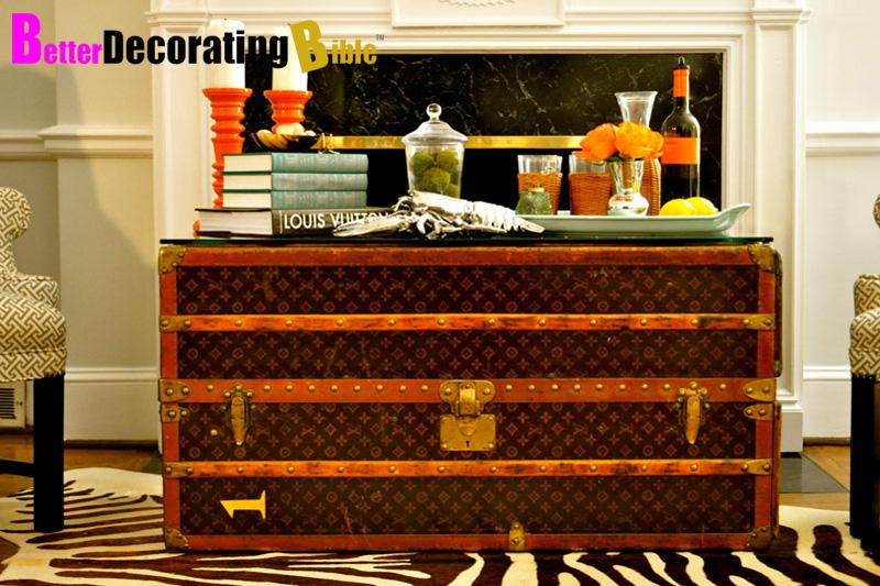 coffee table Louis Vuitton trunk