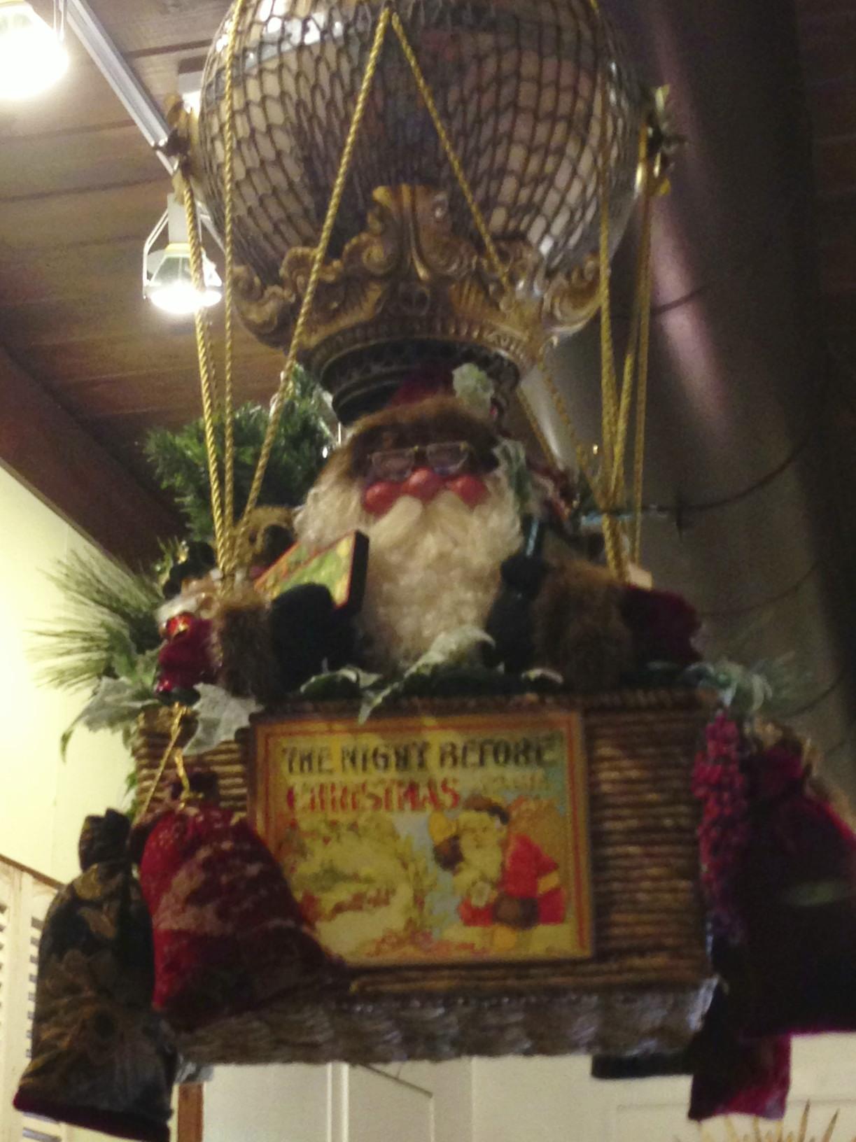hot air balloon with Santa