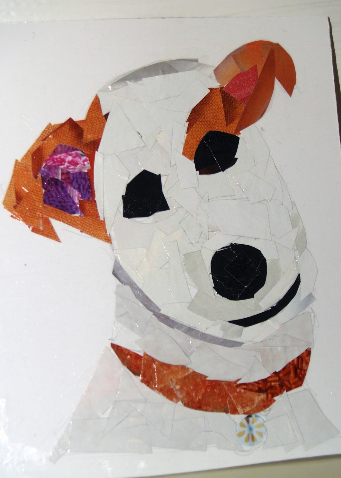 dog collage portrait