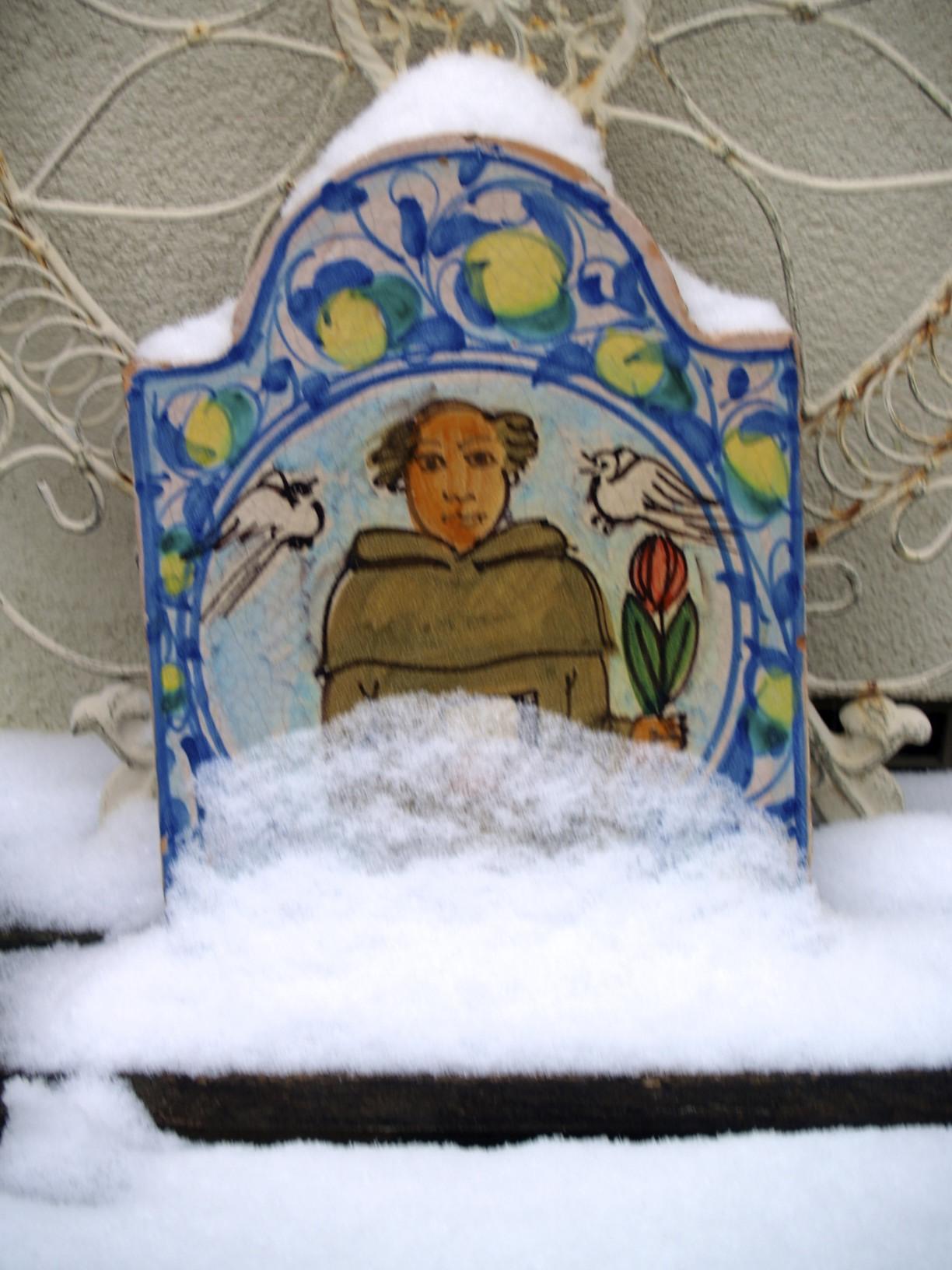 snow on St. Francis