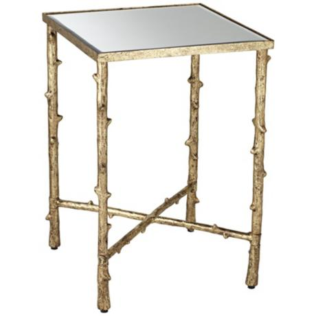 gold accent table from LampsPlus