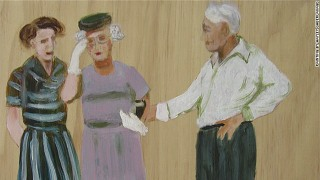 painting of Eudora Welty and William Maxwell