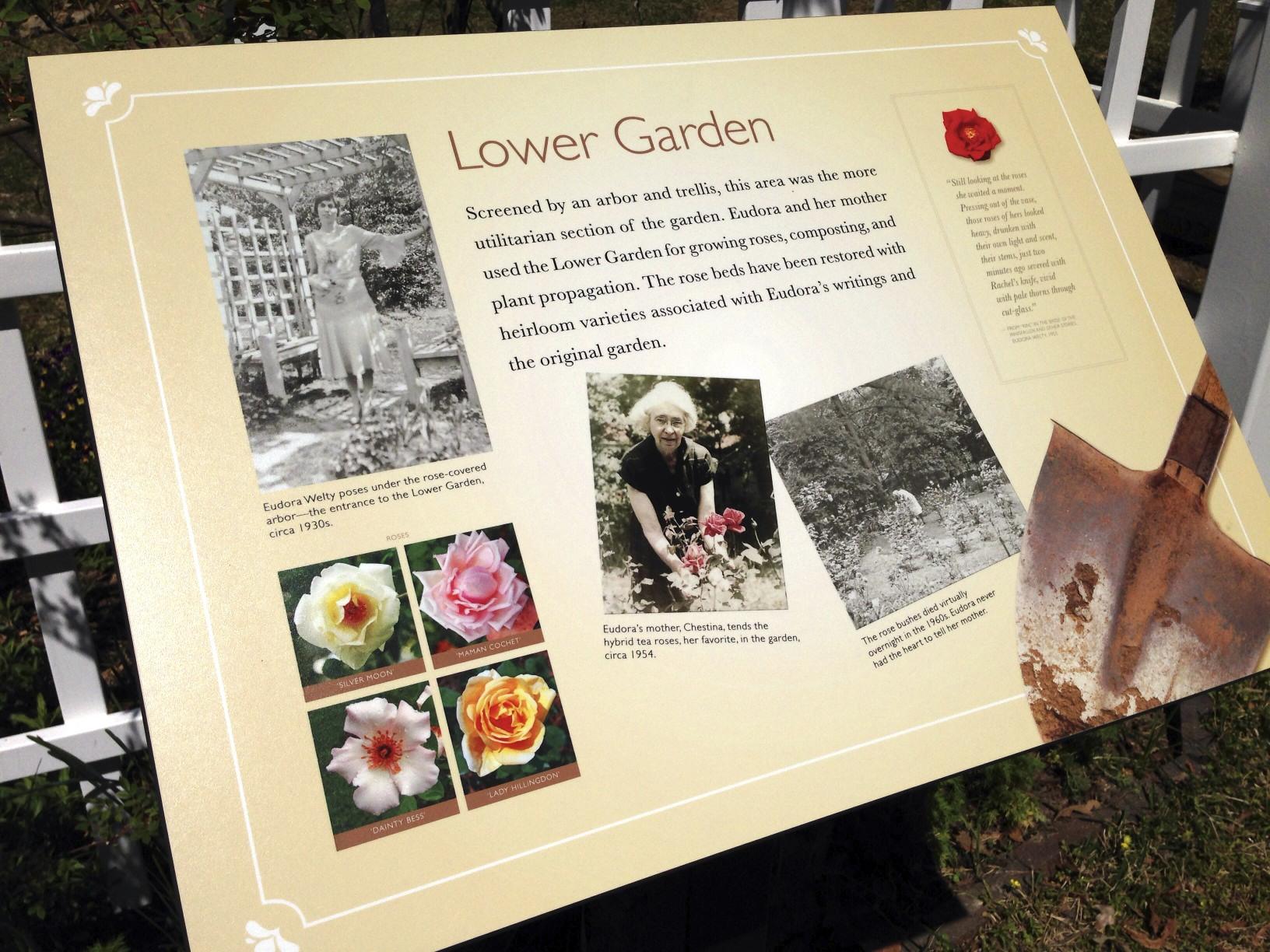 Signage in the Eudora Welty Garden
