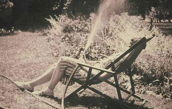 Eudora Welty watering hose