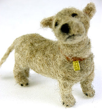 Scottish designer Domenica More Gordon is living proof that you really don't need to try all that hard when you are inspired. Domenica created her first miniature felt dogs as a mere hobby but, to her surprise, they slowly gained respect from thousands of devotees, finally ending up in some of the best galleries all over the world. It seems that no one can really resist her cute creations. The secret lies in a special technique, called dry felting, which is based on stabbing unspun wool with a felting needle until you shape the wool into the intended form. Of course, it takes a lot of love and patience to get the desired results. Domenica's dogs live in a parallel world, straight out of her childhood memories, a world where innocence and tenderness still reign free. The dogs are in fact her attempt to revive this special feeling of attachment one has for their toys as a child which is a magical bond that gets stronger and stronger as time goes by. One cannot but simply admire her ability to project the universal need of being loved into those cute, wide eyed creatures. The final result is so charming that her little dogs