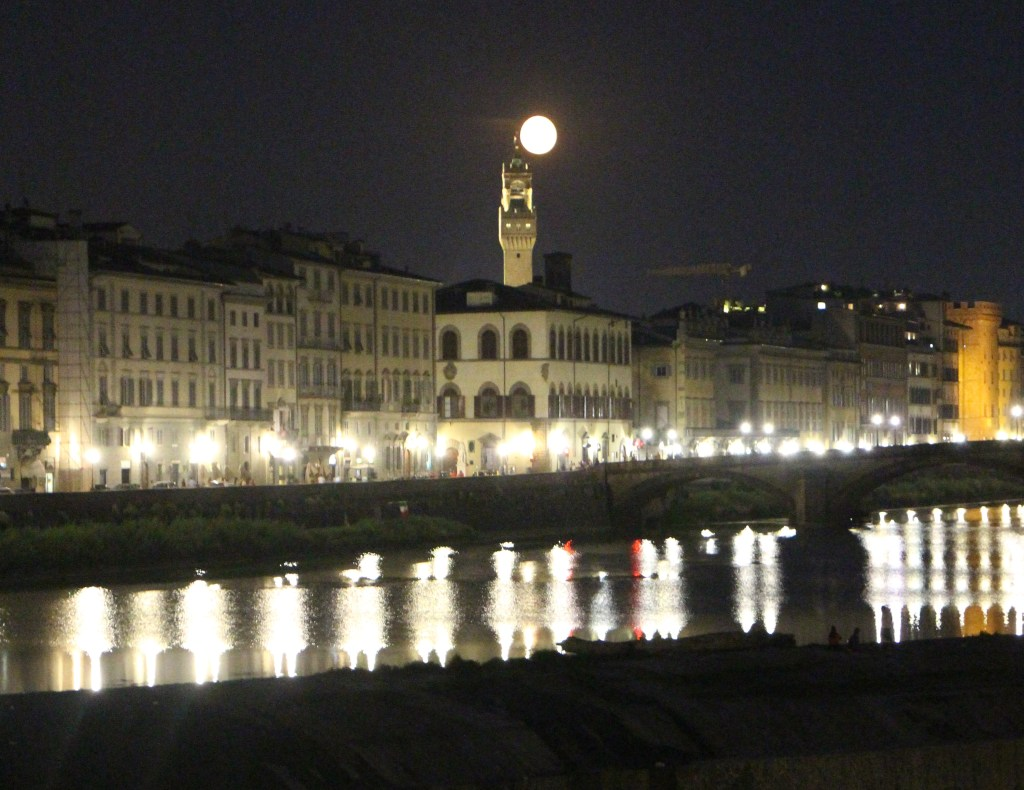 Super moon in Florence