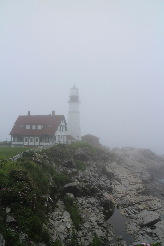 A Foggy Day at Portland Headlight