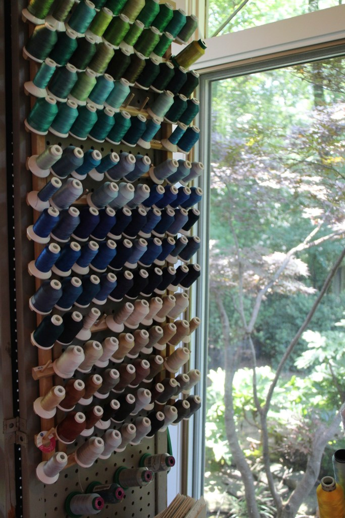 Peggy Goldstein's embroidery studio