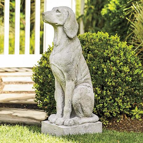 concrete garden dog