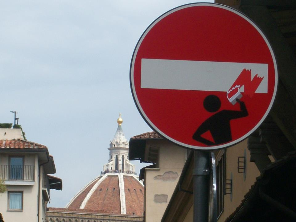 Clet Abraham in Florence