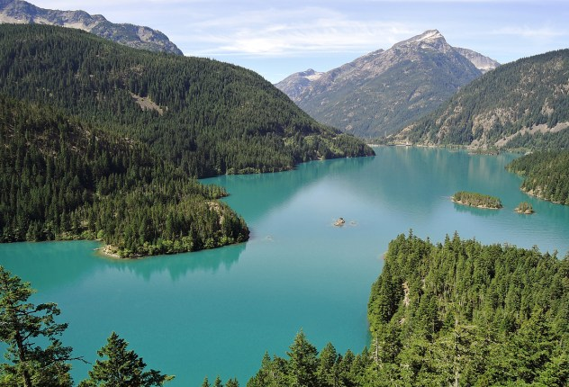 Overlooking Diablo Lake in the North Cascades National Park Complex