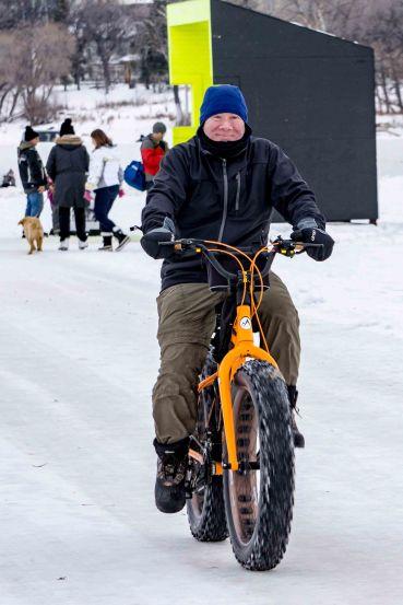 happy 2: man on fat tire bike