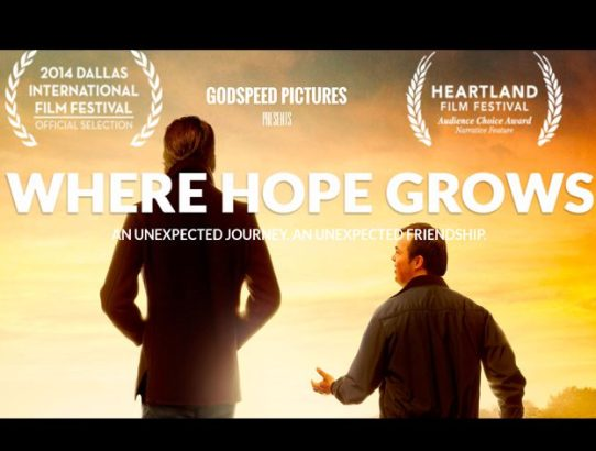 First Feature Film Role - Where Hope Grows Promo Poster