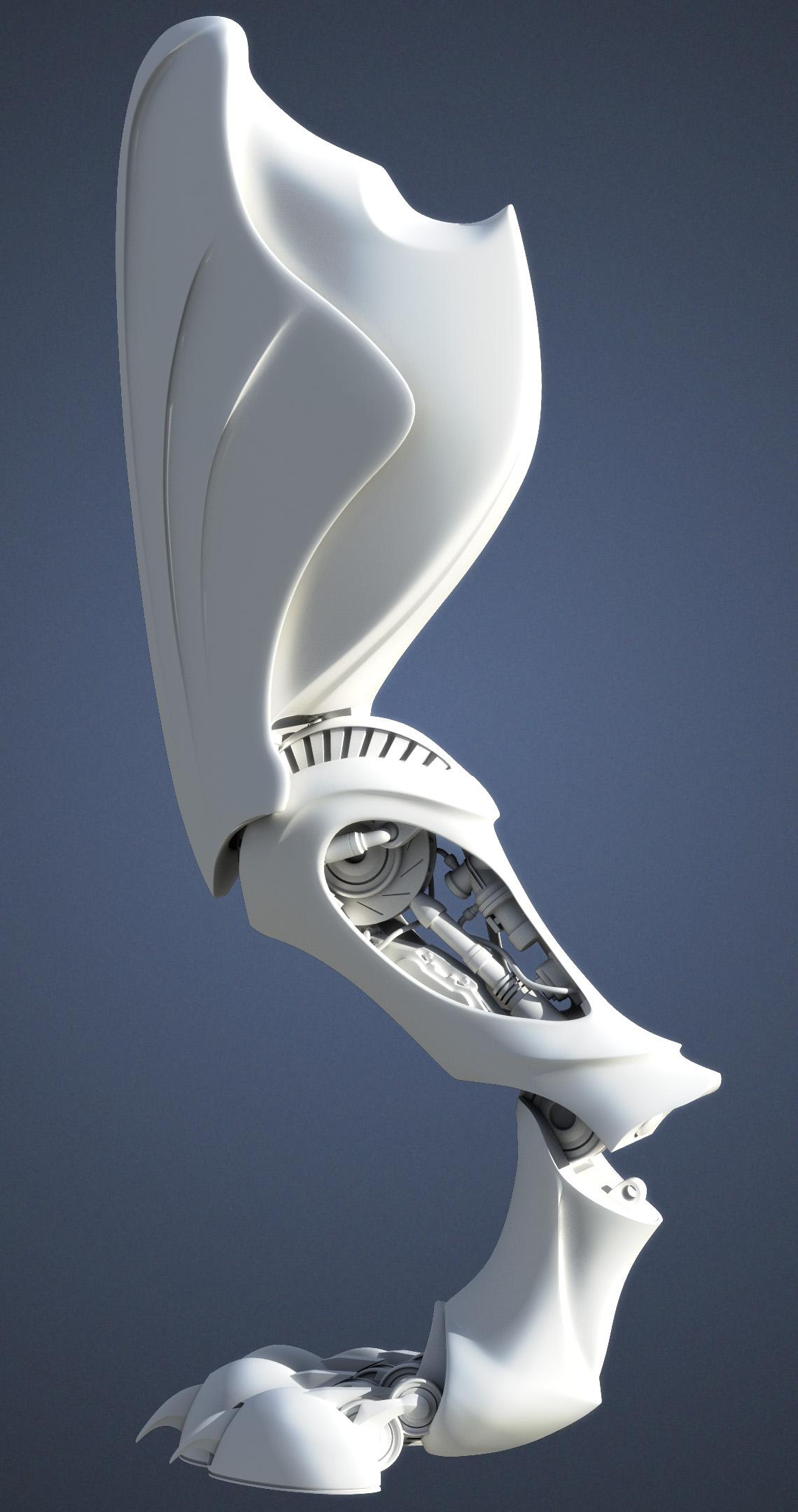 Zoic Internship Panther Robot  Marshall Huffmans 3D Art