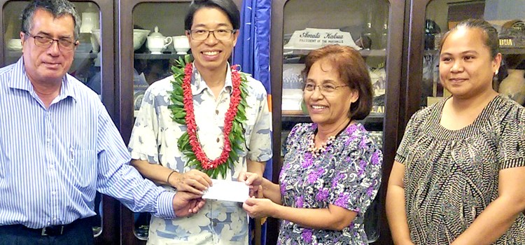 Komol to ROC-Taiwan for support