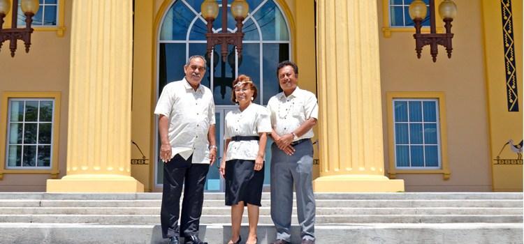Leaders pow-wow in Palau