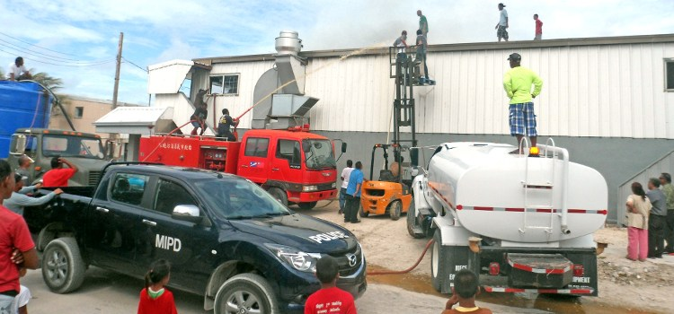 Ebeye fire displaces medical staff